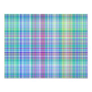 blue tartan pattern custom announcements