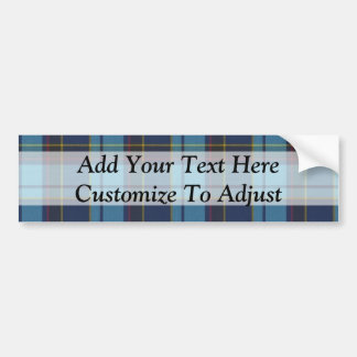 Blue tartan plaid bumper sticker