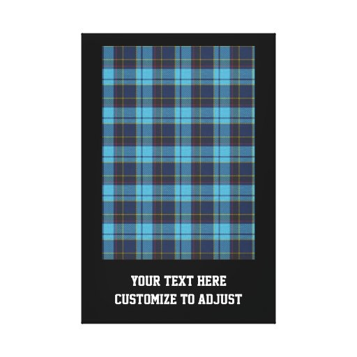 Blue tartan plaid gallery wrapped canvas