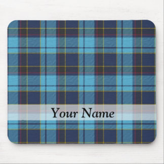 Blue tartan plaid mouse mat