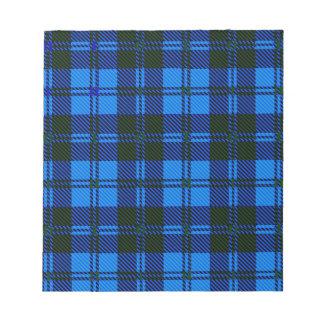 Blue Tartan Wool Material Notepad