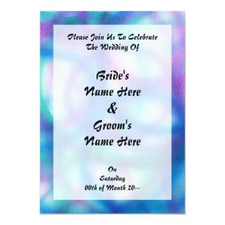Blue, Teal and Purple Pattern. 13 Cm X 18 Cm Invitation Card
