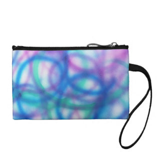 Blue, Teal and Purple Pattern. Coin Purse