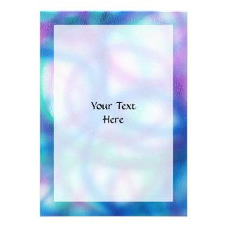Blue, Teal and Purple Pattern. Custom Invitations