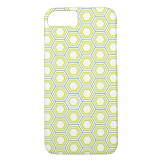 Blue, Teal and Yellow Hexagonal Pattern - iPhone 7 iPhone 7 Case