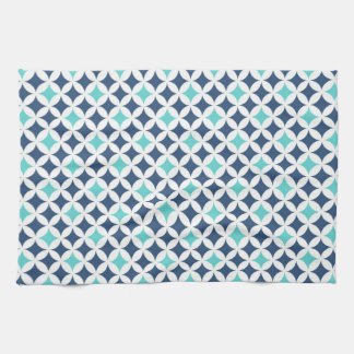 Blue Teal Pattern Kitchen Cloth Towel