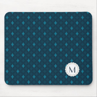 Blue & Teal Personal Monogram Mouse Pad