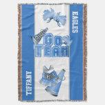 Blue Team Spirit Cheerleader Custom Blanket