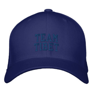 Blue Team Tibet Embroidered Wool Cap Embroidered Baseball Caps