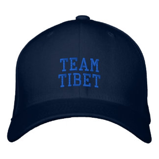 Blue Team Tibet Embroidered Wool Cap Embroidered Hats