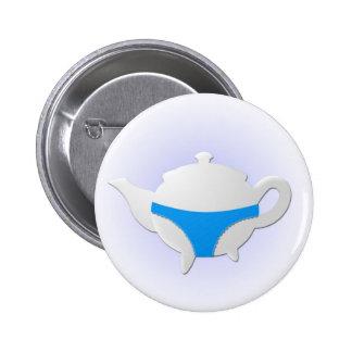 Blue teapot and lingerie button