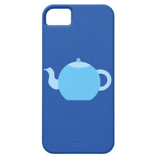Blue Teapot on Navy Background. iPhone 5 Cases
