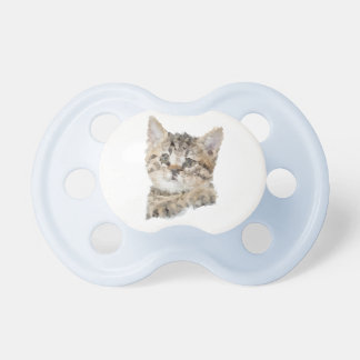 Blue Teat Low poly kitten Baby Pacifier