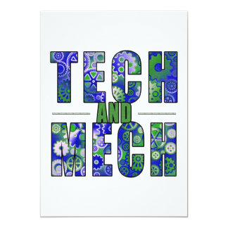 Blue Tech and Mech Personalized Announcement