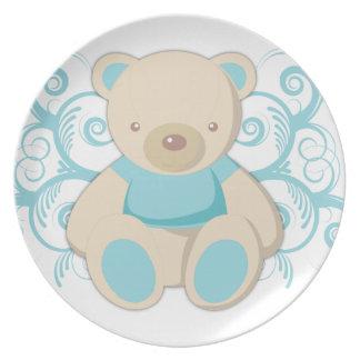 Blue Teddy Bear Custom Plates
