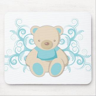 Blue Teddy Bear Mousepad