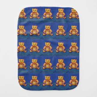 Blue Teddy Bear My Baby Bear New Baby Mama Gift Burp Cloths