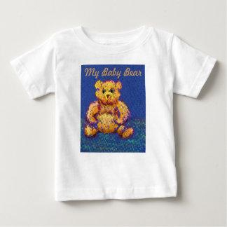 Blue Teddy Bear My Baby Bear Tshirt Shower Gift