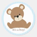 Blue Teddy Bear Sticker