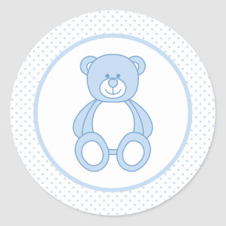 Blue Teddy Bear Stickers