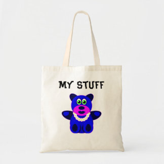Blue Teddy Bear Tote Bag