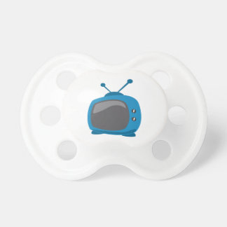 Blue Television Pacifier