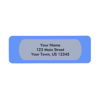 Blue Template Return Address Label