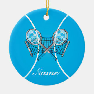 Blue Tennis Ball | Personalize Christmas Ornament