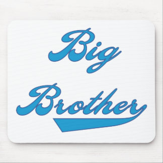 Blue Text Big Brother Mouse Pad
