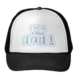 Blue Text I'm a New Dad Cap
