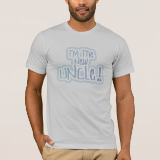 Blue Text I'm the New Uncle T-Shirt