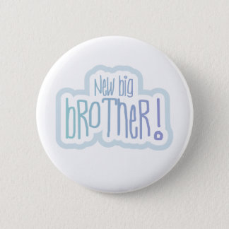 Blue Text New Big Brother 6 Cm Round Badge
