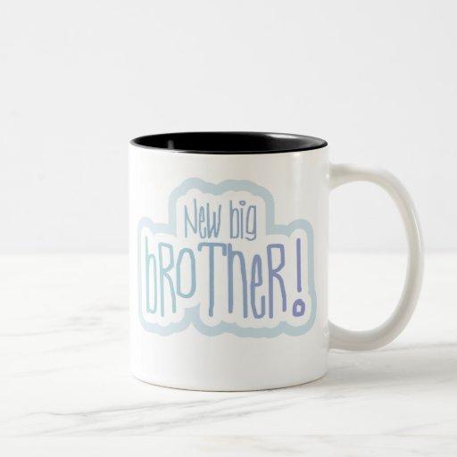 Blue Text New Big Brother Coffee Mug