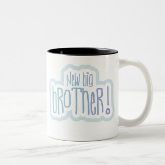 Blue Text New Big Brother Two-Tone Coffee Mug
