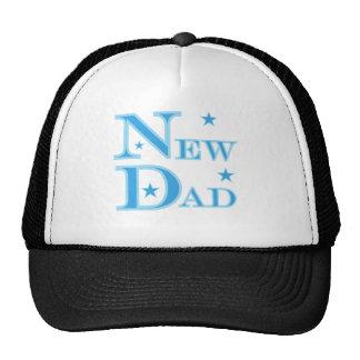 Blue Text New Dad Cap