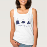 Blue text: Redefine the fairy tale Basic Tank Top