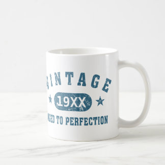 Blue Text Vintage Aged to Perfection Mug