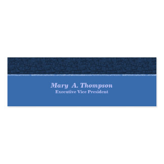 Blue Texture Pack Of Skinny Business Cards