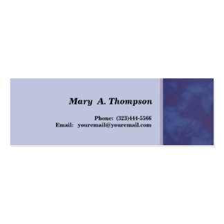 Blue texture side border pack of skinny business cards