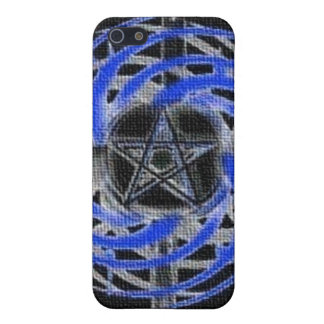 Blue Textured Abstract Pentagram Case For iPhone 5/5S