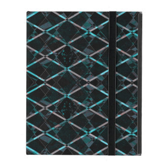 Blue textured diamond pattern iPad cover