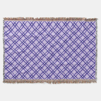 Blue Textured Square, Oblong and Circle Pattern Throw Blanket