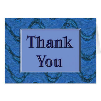 Blue Thank You Greeting Card