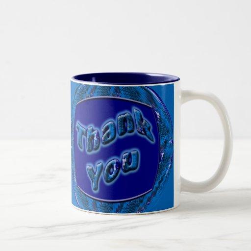 Blue Thank You Mug