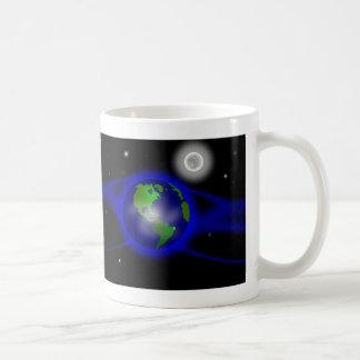 Blue Thank You Poem in Space Basic White Mug