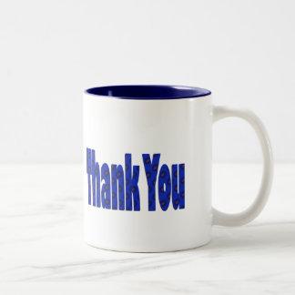 blue Thank you Two-Tone Mug
