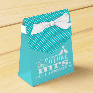 Blue The Future Mrs Bridal Shower Favour Box