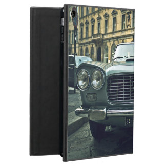Blue Themed, A Vintage Blue Car Parked On An Empty Cover For iPad Air