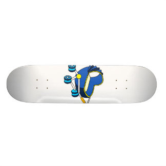 blue themed baby carriage graphic png skateboards