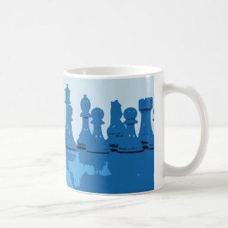 Blue Themed Chess Mug